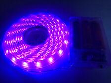 2m long, 120 PURPLE LED, 3AA Battery Powered Waterproof LED Light Strip
