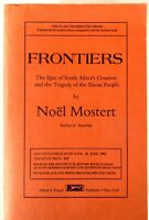 Frontiers: South Africa's Creation & Tragedy of Xhosa People - Uncorrected Proof