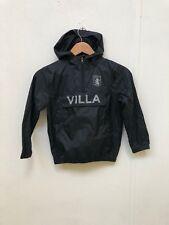 Aston Villa Kid's Club Shower Jacket - 6-7 Years - Black - New