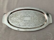 """SILVERPLATE TRAY, National Silver Company, 10 1/8"""" long x 5 3/8"""" wide"""