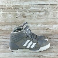 Adidas Neo Raleigh Mens Size 9 Gray White Mid Top Athletic Basketball Sneakers