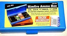 MTM Case Gard™ Rimfire Ammo Box 22LR, 17 Mach, 17 HMR SB-200-20 Blue 100 Round