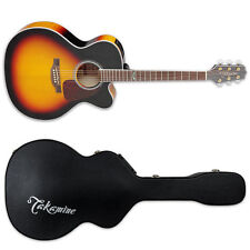 Takamine GJ72CE Gloss Brown Sunburst BSB Acoustic-Electric Guitar + GC J Case