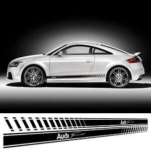 For AUDI TT RS S QUATTRO Sport 2 x VINYL Door STRIPES  Stickers DECALS Graphics