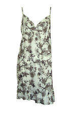 Budgie bird and flower patterned nightie/night dress/chemise/slip BNWOT