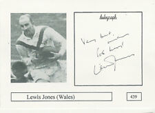 Lewis Jones WALES RUGBY PLAYER SIGNED PHOTO CARD ORIGINAL AUTOGRAPH