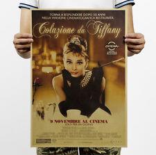 Audrey Hepburn Breakfast At Tiffany's Advertising Poster Kraft Paper Wall Art