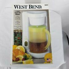 Open Box West Bend 2 Qt Iced Tea Maker Model 68022  Automatic Shut Off   USA