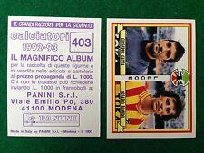CALCIATORI 1992-93 n 403 LECCE GATTA BIONDO , Figurina Sticker Panini NEW