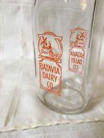 Vintage Half Pint Milk Bottle Batavia Dairy Co Illinois Dutch Girl Windmill