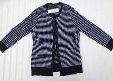 NEW!! Ann Taylor Womens Navy Polka Dot Button Up Cardigan Sweater Medium NWT