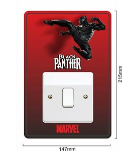 Black Panther 2 - Light Switch Surround Sticker vinyl cover skin decal - 25