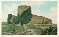 """Rhuddlan Castle from the West (Peacock """"Autochrom"""" Series no. P.5738) 1900s"""
