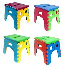 Wako Folding Step Stool 9 inch Height Heavy Duty Foldable Stool for Adults
