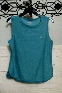 Head Activewear Top Size L Blue Sleeveless Summer Scoop Neck