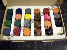 Dyes for candle making Set C ..dye up to 24 kilos of wax..24 different colours!