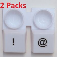 "2 Packs White Keyboard ""@"" & ""!"" Left & Right Contact-Lens Case Holder Container"