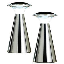 Schreibtisch-Lampe: Edelstahl LED-Tischleuchte, 2er Set
