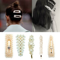 Pearl Word Letters Hair Clip Slide Hair Pin Barrette Bridal Hair Accessory Pearl