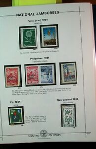 Boy Scout Stamps Nat'l. Jamboree Persia, Philippines, Fiji 1960-66 Mint H185