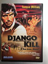 TOMAS MILIAN Django Kill 1967 Spaghetti Oeste Clásica US Region 1 DVD