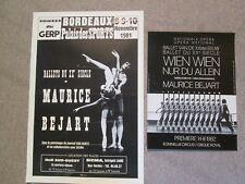 MAURICE BEJART 2 OFFSETAFFICHES 1981 + 1982