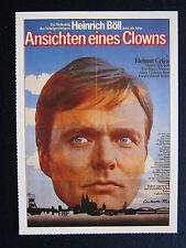 Filmplakatkarte cinema   Ansichten eines Clowns   Helmut Griem , H.Schygulla