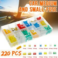 220pcs Medium and Small Fuse Mixed Safety Voltage Plastic Car Insurance  US