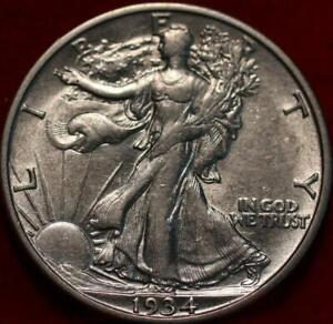 Uncirculated 1934-S San Francisco Mint Silver Walking Liberty Half
