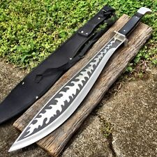 "25"" Survival Hunting Buckshot Military Fulltang Machete Fixed Blade Knife Sword"