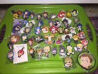 Various Series Japan Anime Rubber Strap Figure Lot of 50 Kawaii