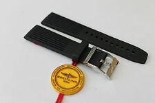 100% Genuine New OEM Breitling Black Ribbed Diver Pro Tang Buckle Strap 22-20mm