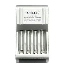 Fujicell Compact Smart Fast AA/AAA Battery Charger Ni-MH & Ni-Cd Batteries New