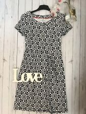 Boden Size 6 R navy heart patterned shift dress stretchy casual skater summer