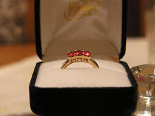 Gems TV Ruby Yellow Gold Fine Rings