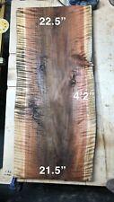 Redwood slab coffee table second growth tiger stripe live edge