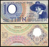 Netherlands * NAZI Germany OCCUPATION * 10 Gulden 1943 (VF) / * * Rembrand* P-59