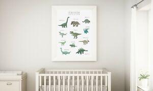 Dinosaurs ,Girls boy  Bedroom ,Wall Art Picture Prints Nursery