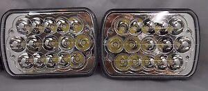 "7x6"" LED HID CREE LIGHT BULBS CRYSTAL CLEAR SEALED BEAM HEADLAMP HEADLIGHT PAIR"