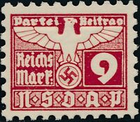 Stamp Germany Revenue Parteitag WWII 1935 3rd Reich War Era Party Due 009 MNG