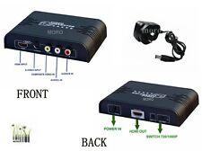 RCA/Composite/S-video to HDMI UpScaler 1080P Audio Video Converter Adapter Box