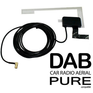 Auto Radio Antenna DAB Puro Highway 300Di Vetro Supporto Digitale Toppa Smb