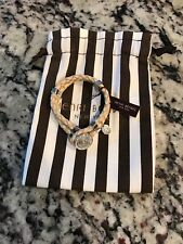 Henri Bendel Tribal Braided Bracelet Natural/Silver Nwt Sold Out