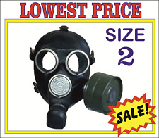 RARE! Military soviet russian gas mask GP-7. SIZE-2. FULL SET. BLACK
