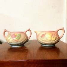 Vintage 1946 Hull Art Pottery Magnolia Matte Sugar and Creamer