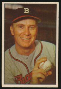 #37 JIM WILSON 1953 Bowman Baseball Color BOSTON BRAVES