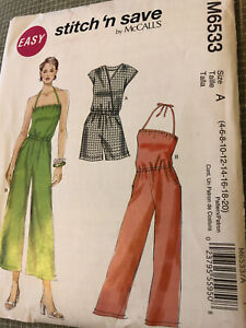 Plus Size 16-18-20-22 Shirt jacket shell pants UNCUT Easy Stitch n save 4752 Sewing Pattern OOP dress FF Rare Find