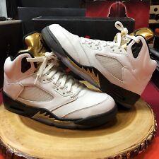 94cb9c6f6 Nike Air Jordan Retro V Black Metallic Gold Coin White Size 10 XI IV Royalty