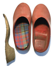 Vintage Ges.Gesch W Germany Rubber Garden Clogs Red 38 Insole Insert