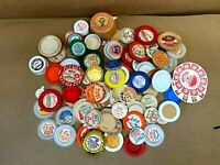 Vintage Milk Bottle Caps -  Lot of  95 - Different Styles & Sizes